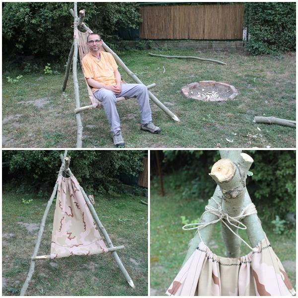 Erste Versuche im Garten - Dreibein